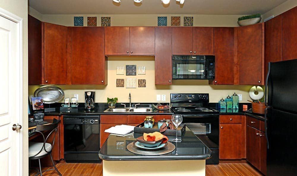 Modern kitchens at Sorrento at Tuscan Lakes apartments