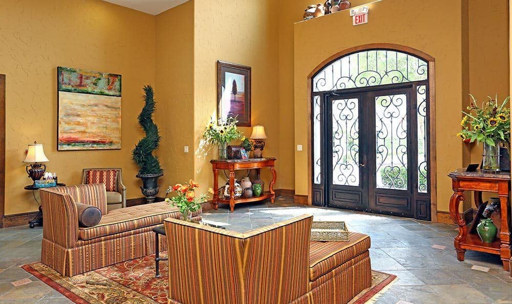 Interior of the Clubhouse Lounge at Sorrento at Tuscan Lakes