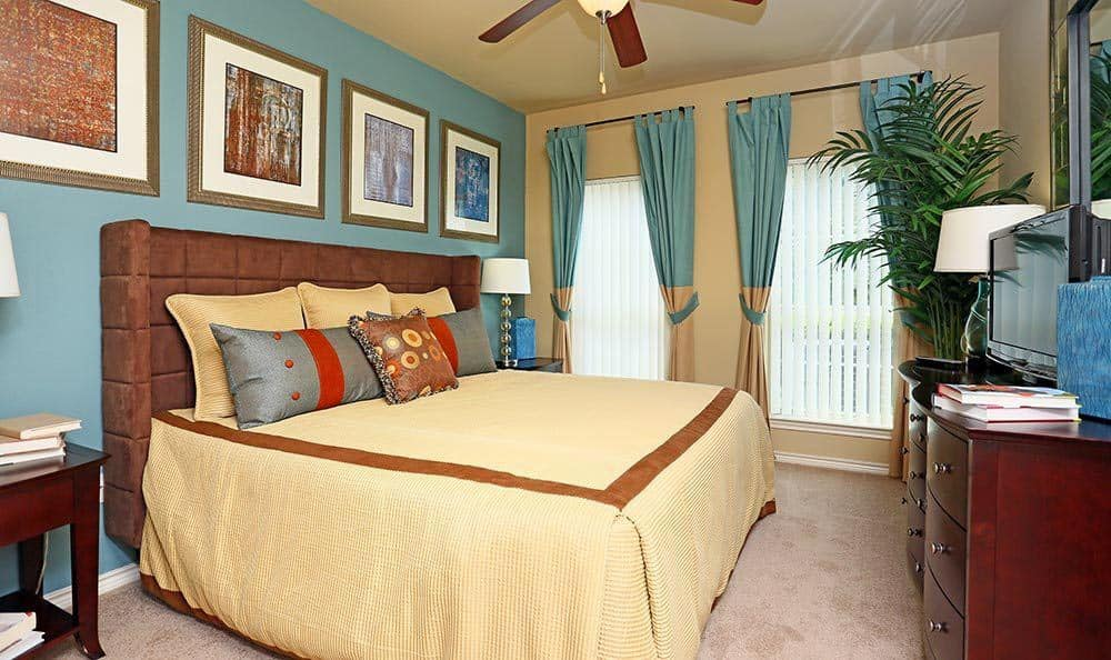 Master Bedroom at Sorrento at Tuscan Lakes apartments for rent