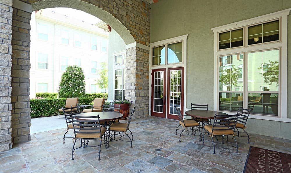BBQ Area and patio at Sorrento at Tuscan Lakes