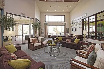 Couches at the clubhouse at Amalfi at Tuscan Lakes