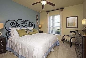Master Bedroom at Amalfi at Tuscan Lakes apartment homes