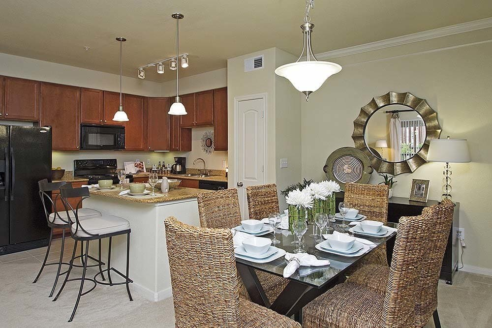 Modern kitchen at Amalfi at Tuscan Lakes