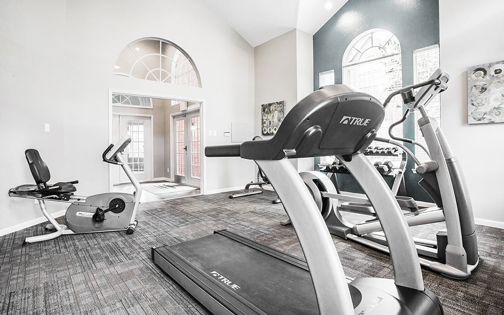 State-of-the-Art Fitness center at Plaza Townhomes at The Medical Center