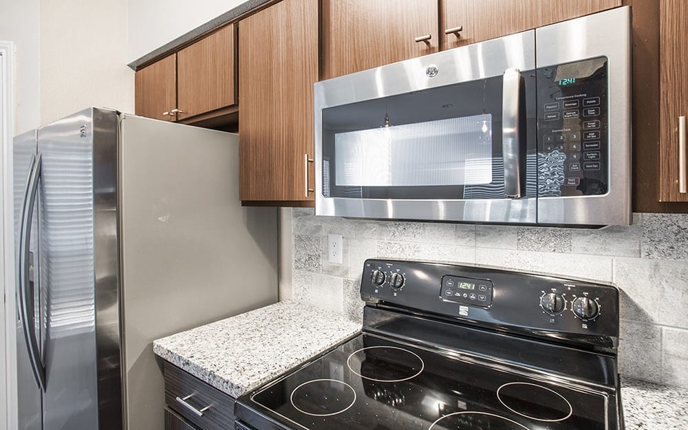 Kitchen at Plaza Townhomes at The Medical Center