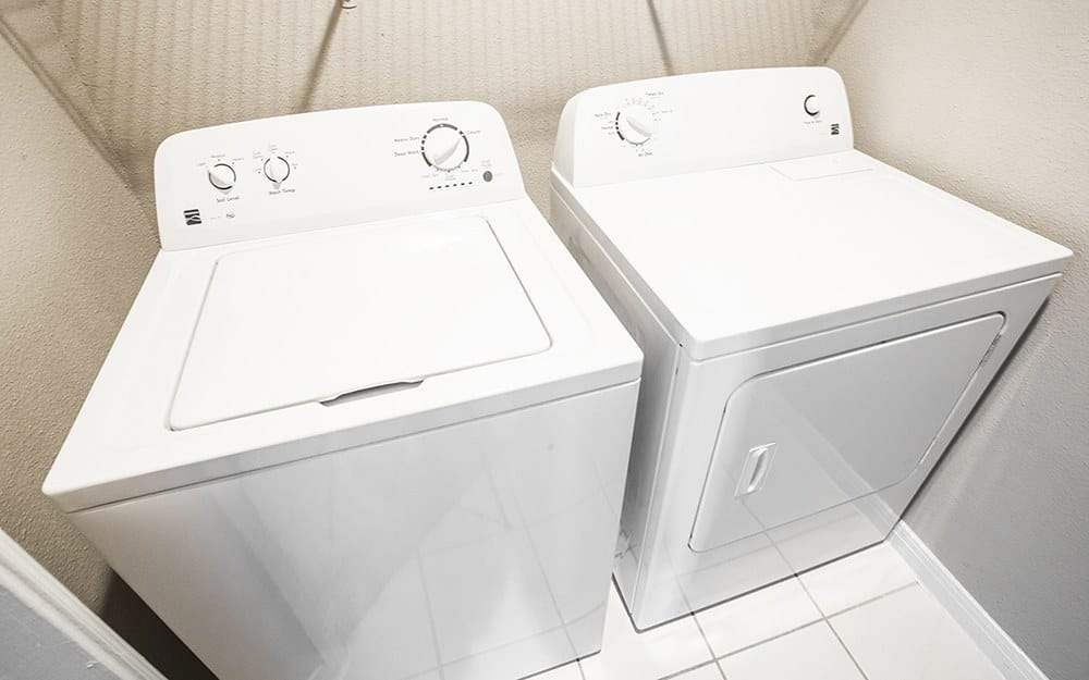 Full sized washer and dryer in Plaza Townhomes at The Medical Center town homes