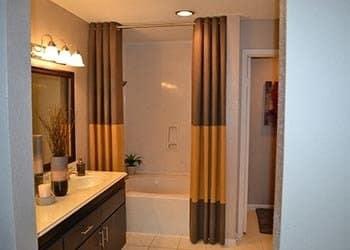 Modern bathroom at Vie at The Medical Center