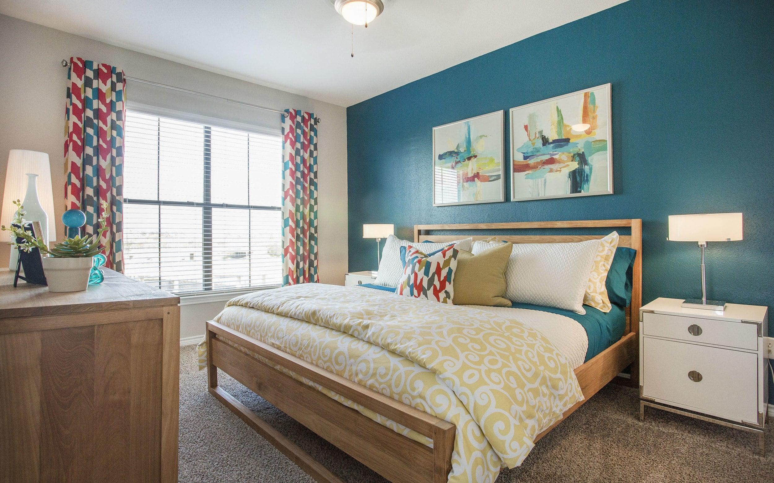 Bedroom at Verdir at Hermann Park in Houston, Texas