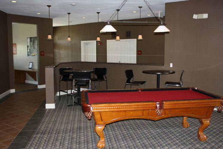 Billiards at student housing apartments in Columbia