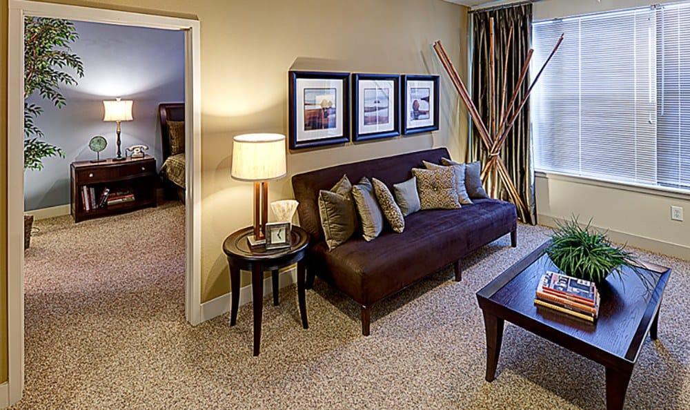 Our apartments' living rooms were designed for the utmost comfort at The Depot.