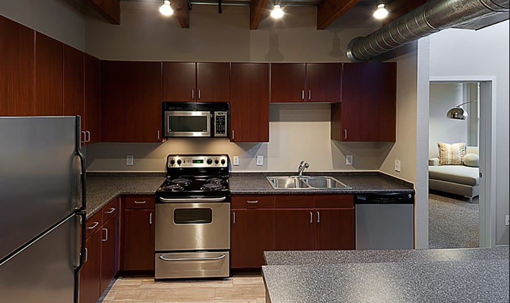 Our contemporary kitchens are full of modern conveniences at The Depot.
