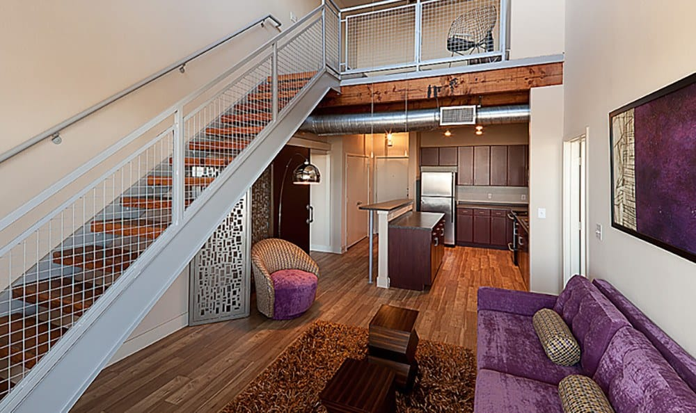 Some of our luxury apartment homes have lofts here at The Depot; call to schedule a tour today!