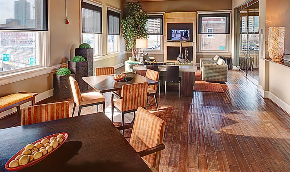 Our resident lounge is a great spot to meet your neighbors at The Depot.