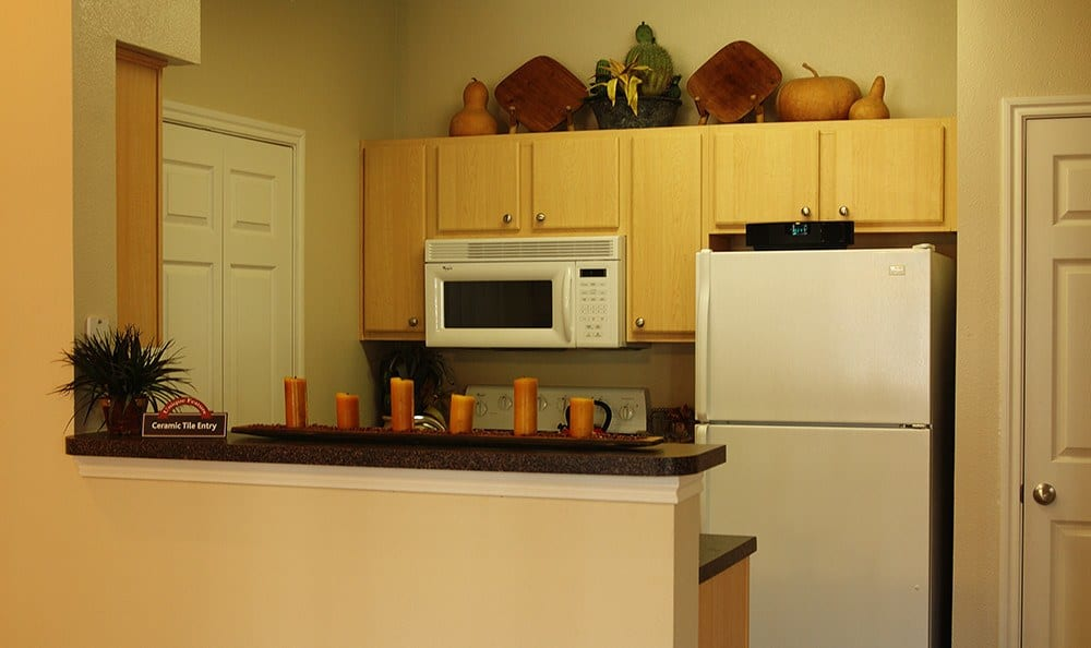 All our apartment homes at Alexis at Town East feature modern kitchens with up-to-date appliances and features.