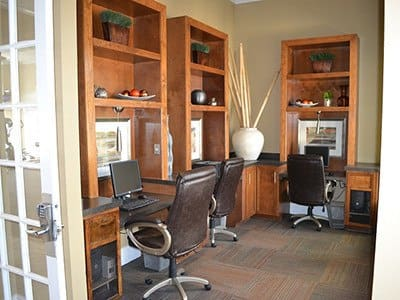 Our business center has everything you need to be productive here at our apartment community in Pearland