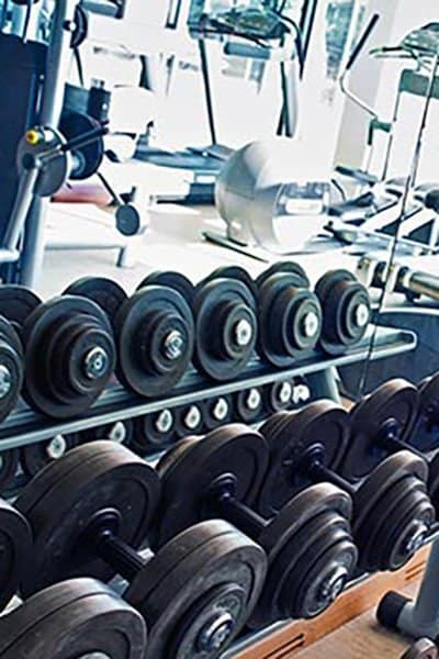 Get a fantastic workout in at our fitness center at Southwind at Silverlake Apartments in Pearland