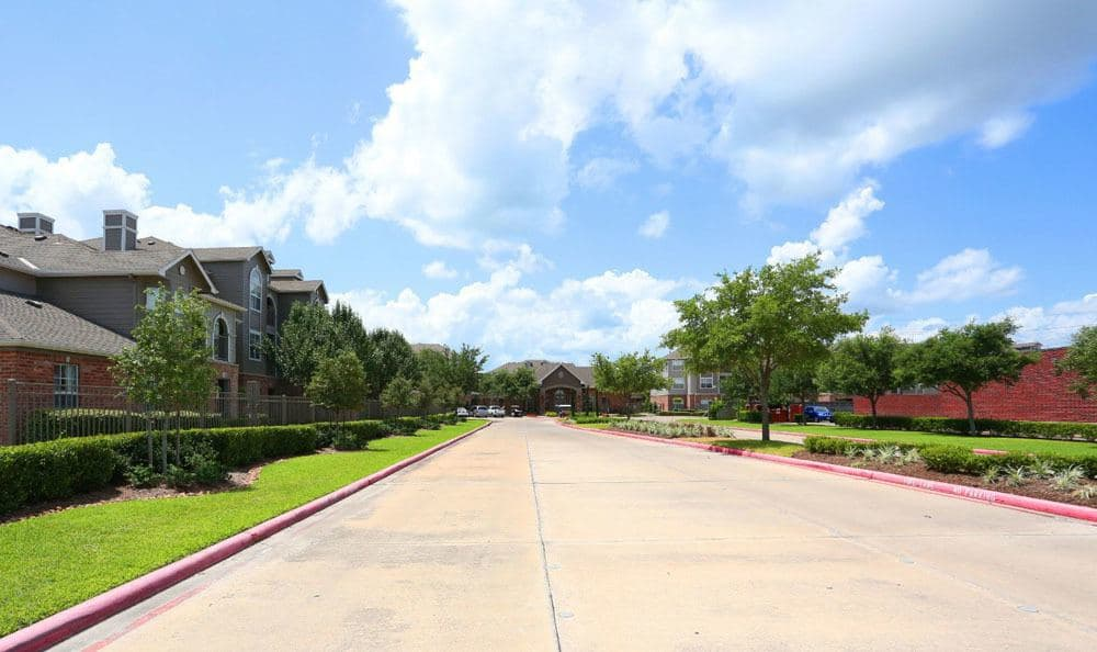 Street view at Southwind at Silverlake Apartments in Pearland, TX