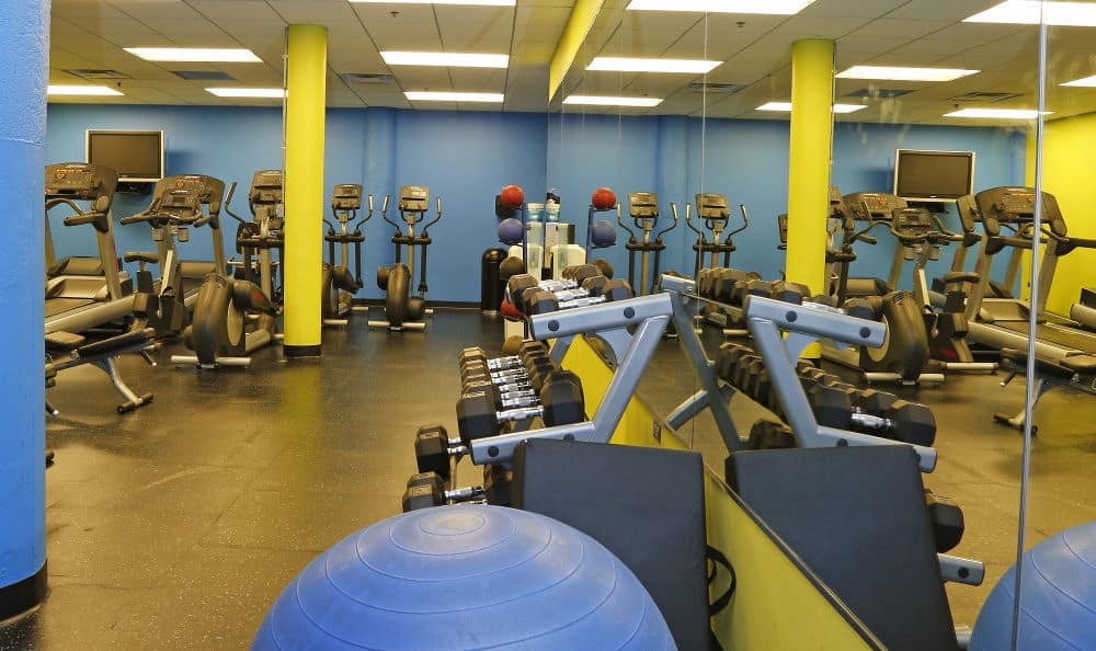 Fitness center at The Automatic Lofts in IL