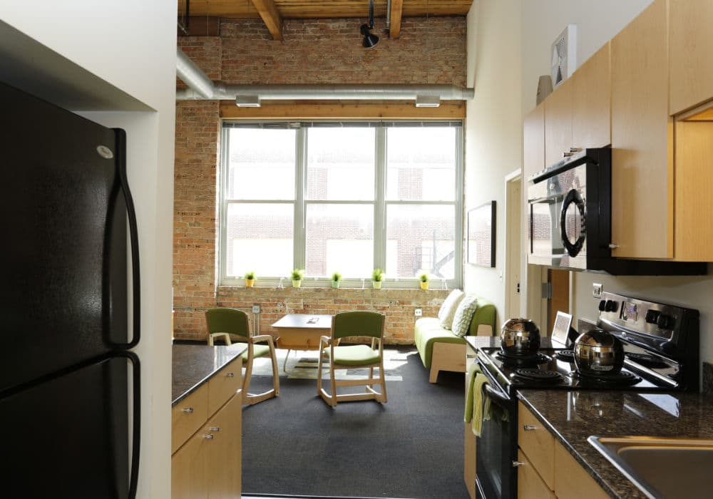 Kitchen at apartments in Chicago, IL
