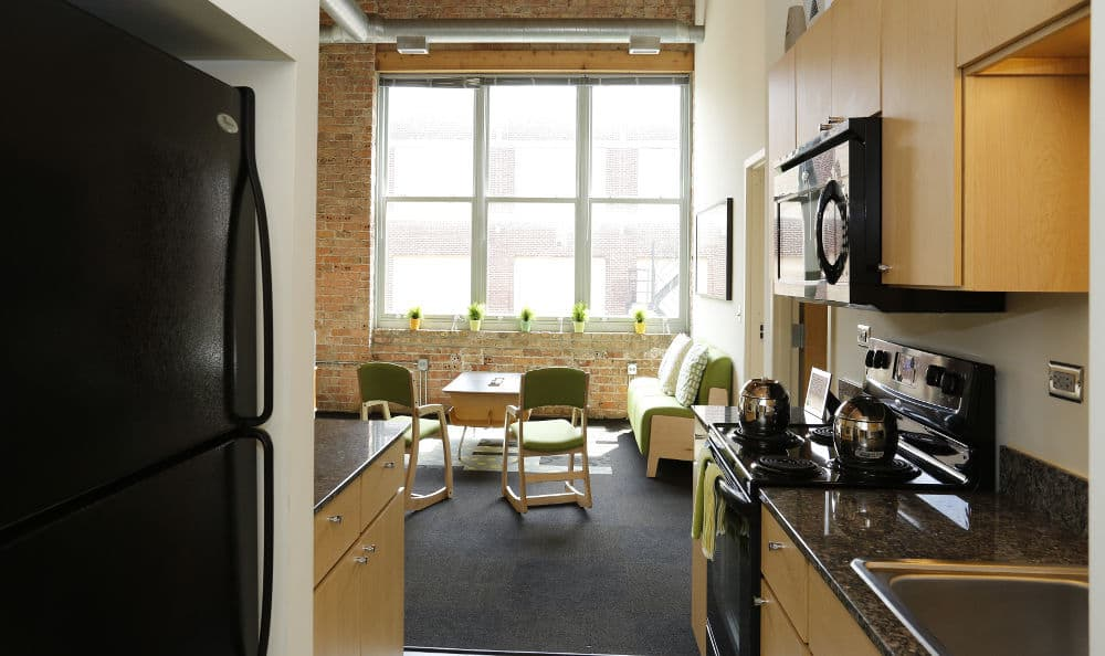 Kitchen at The Automatic Lofts in IL