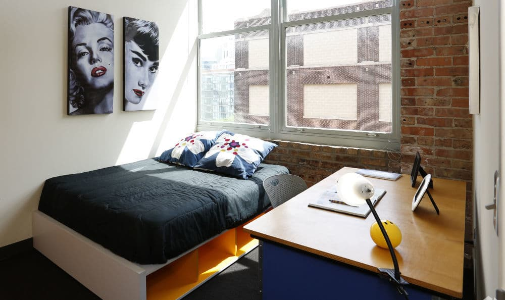 Bedroom at The Automatic Lofts in Chicago, Illinois