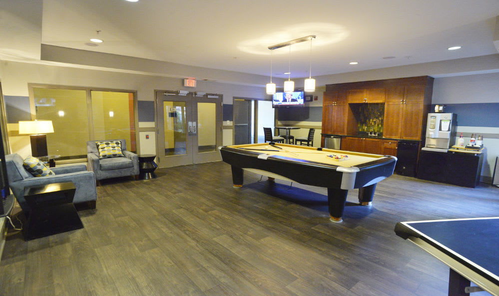 Enjoy the game room at The Flats