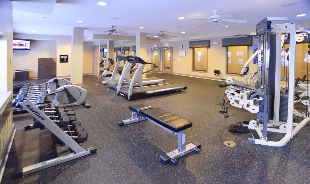 State of the art fitness center at The Flats