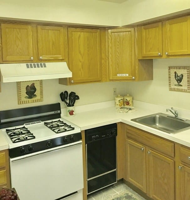 Kitchen at Glenwood Apartments in Old Bridge, New Jersey