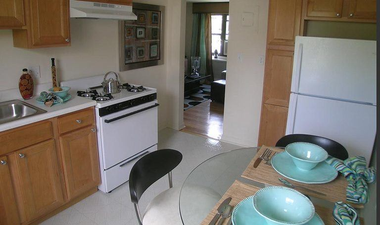 Kitchen at apartments in Clifton