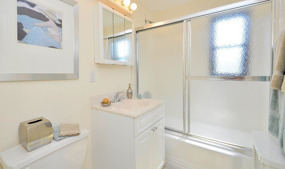 Bathroom option at apartments for rent at Richfield Village Apartments in Clifton.