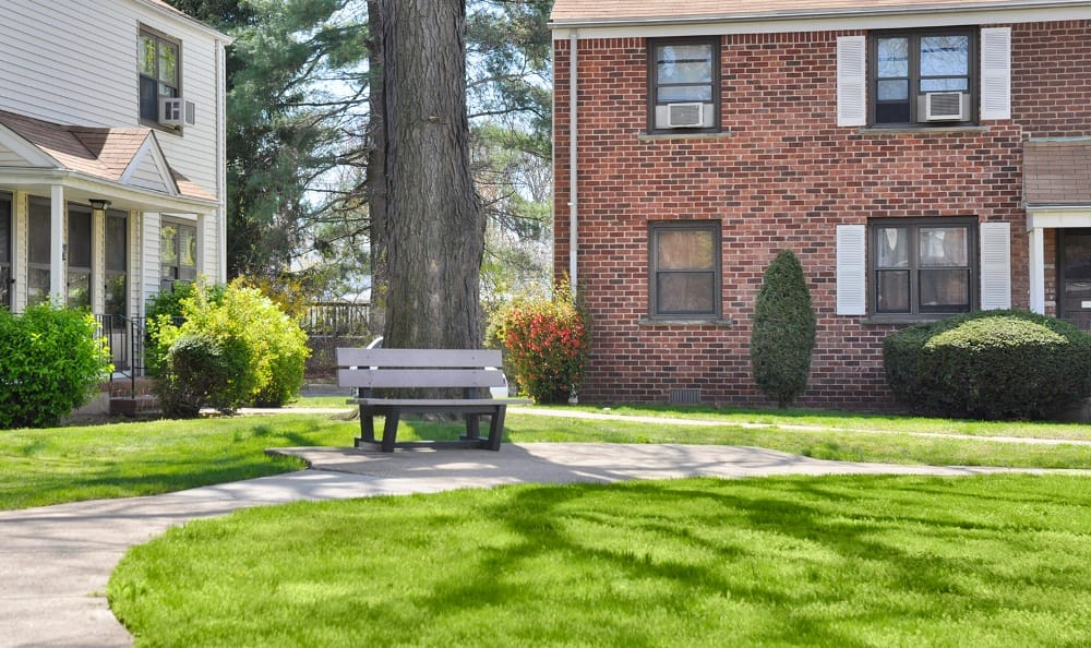 Well manicured grounds at apartments for rent at Richfield Village Apartments in Clifton.