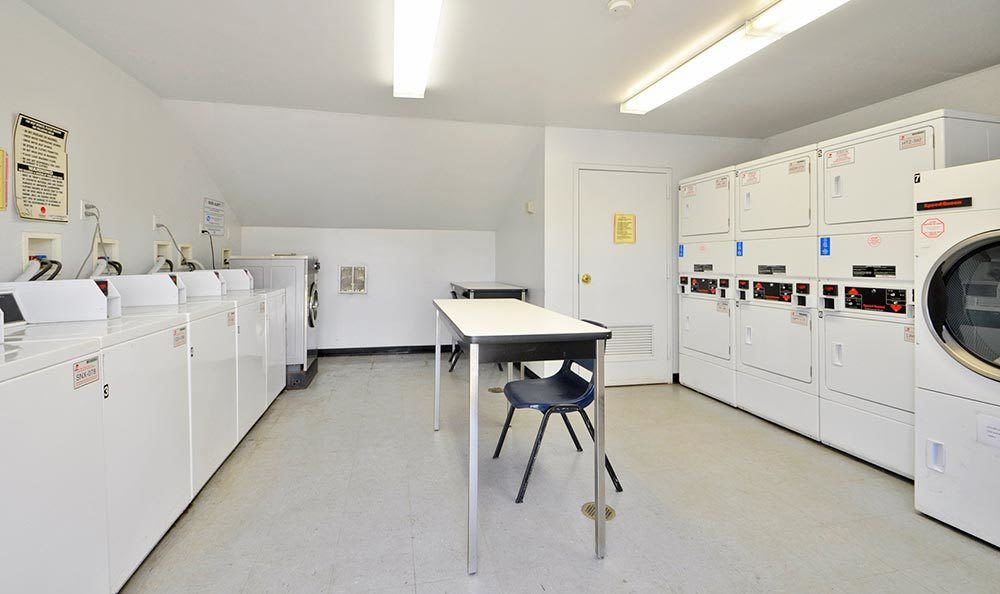 On-site laundry facility at apartments for rent at Richfield Village Apartments in Clifton.