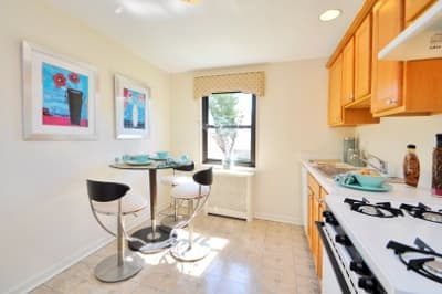 Bright and warm kitchen at apartments for rent at Richfield Village Apartments.