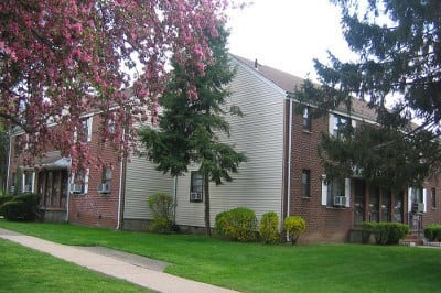 Exterior of apartments for rent at Richfield Village Apartments.