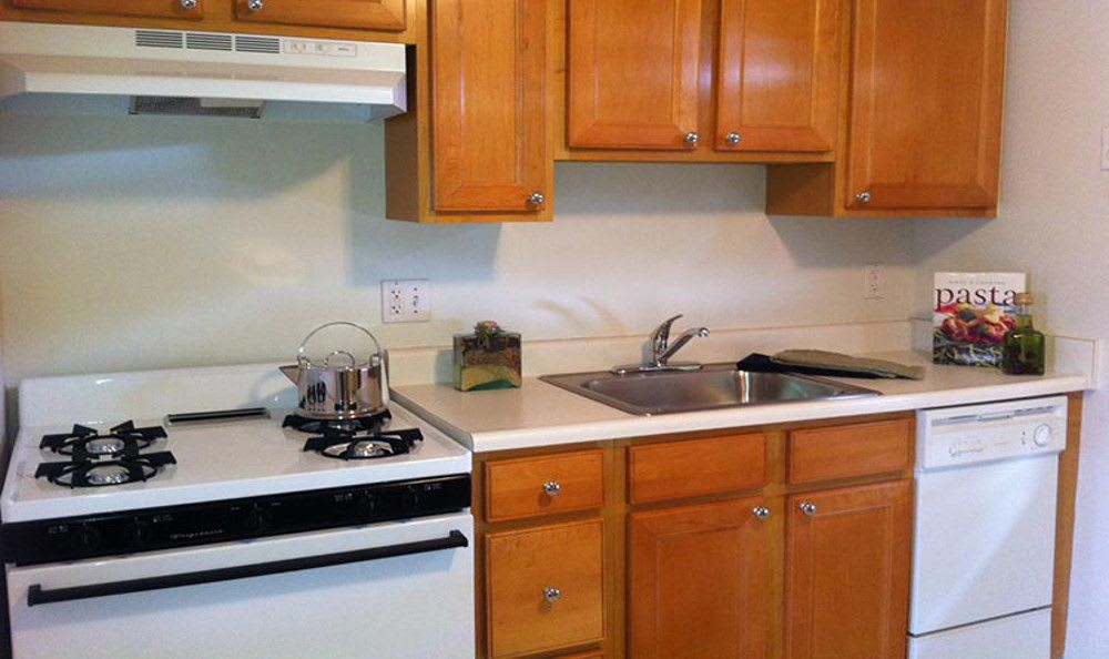 Kitchen at Brookchester Apartments in New Milford.