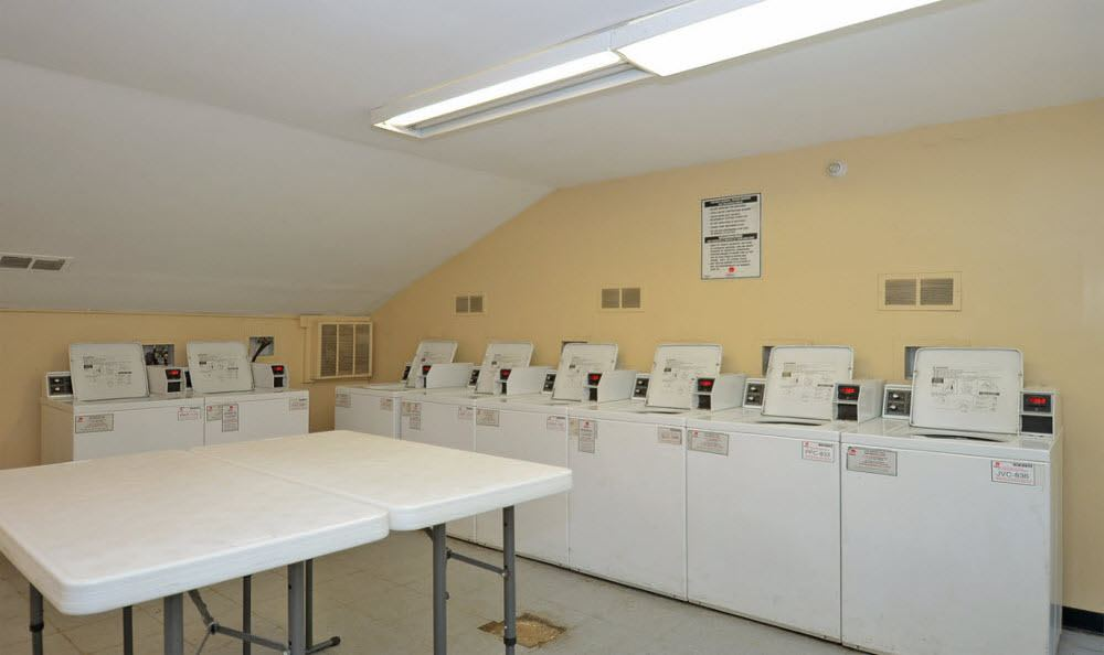 On-site laundry at Brookchester Apartments in New Milford.