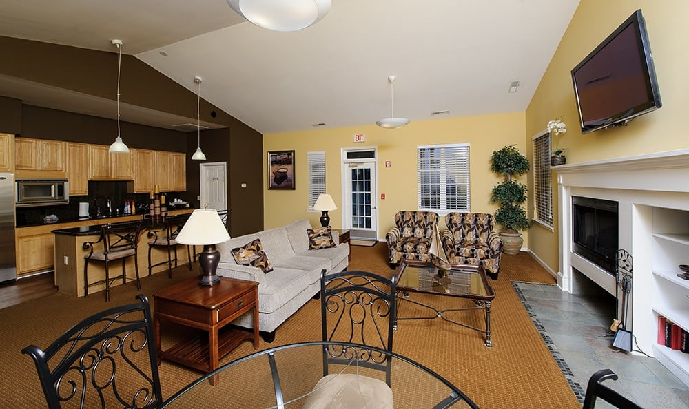 Clubhouse at Mill Pond Village Apartments in Salisbury.