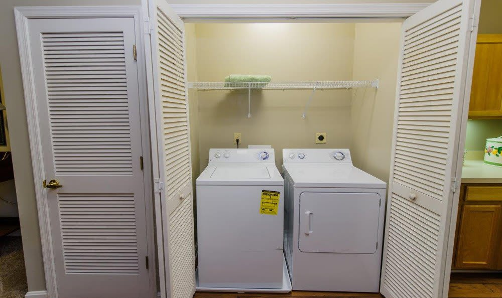 Washer and dryer available at Mill Pond Village Apartments in Salisbury.