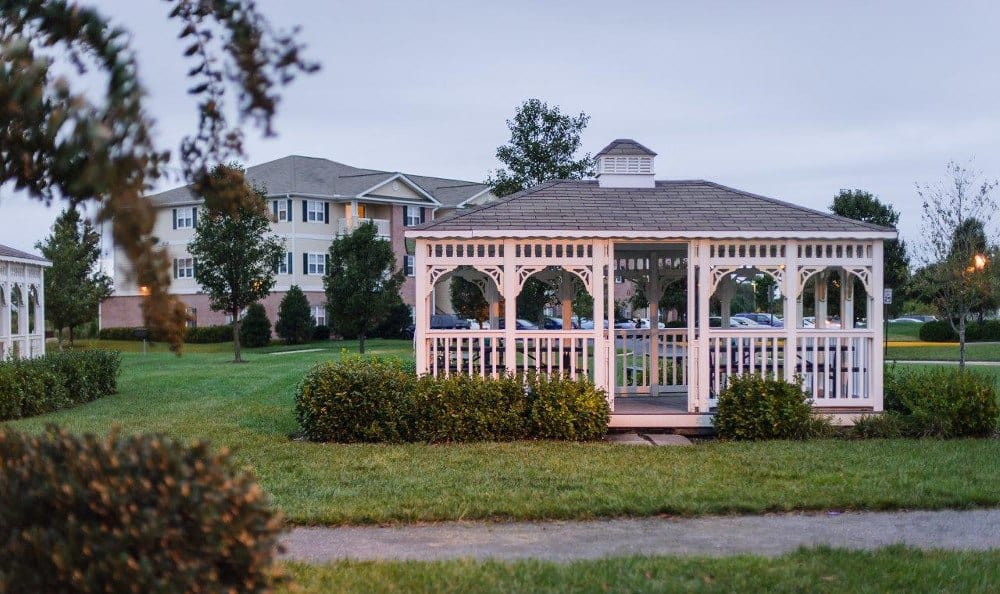Gazebo at Mill Pond Village Apartments in Salisbury.
