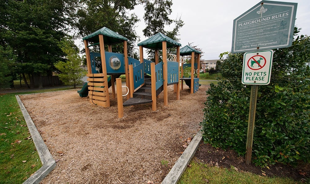 Playground at Mill Pond Village Apartments in Salisbury.
