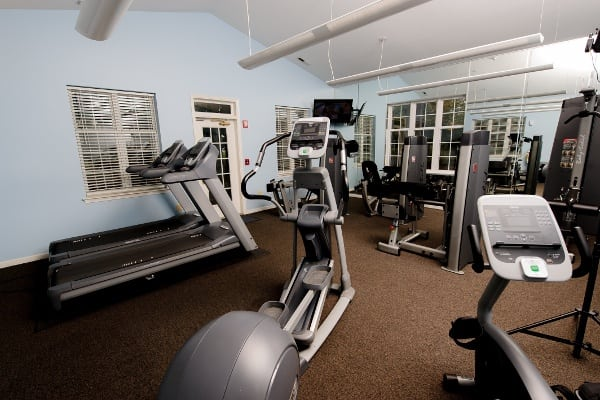 View of the ever-popular state-of-the-art fitness center at Mill Pond Village Apartments in Salisbury