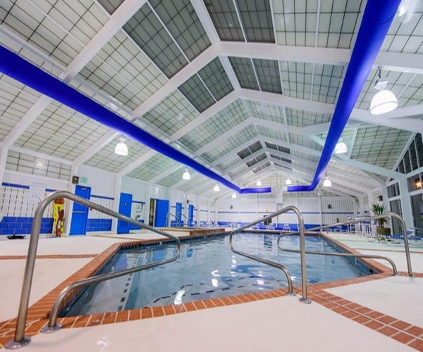 View of the indoor pool here at Mill Pond Village Apartments luxury apartments