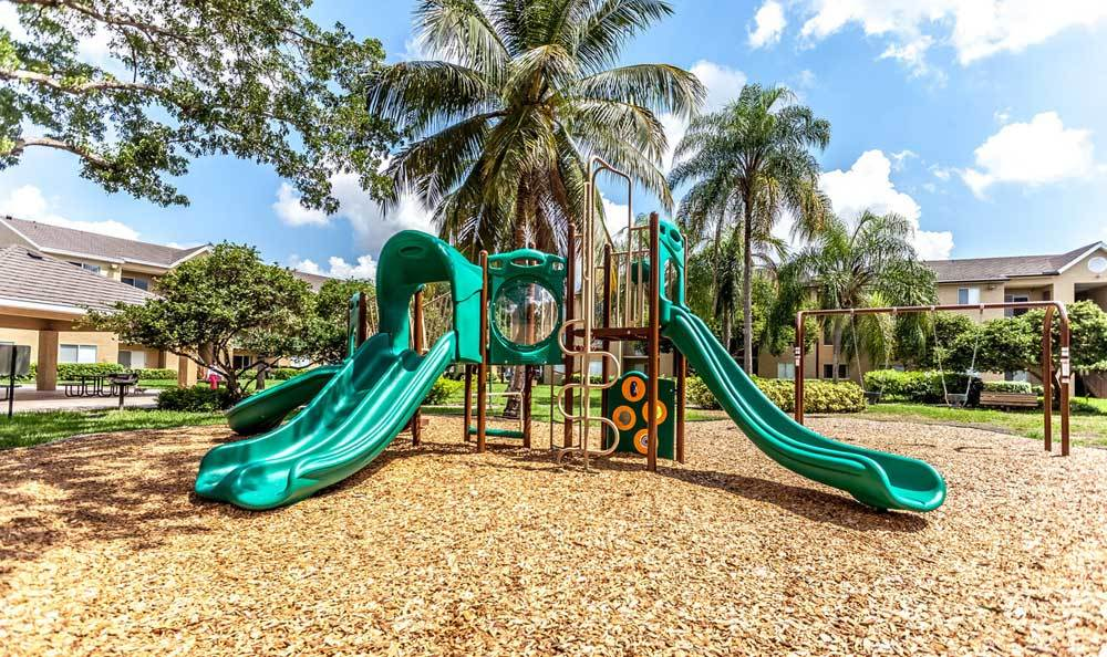 Children's Playground at Palmetto Place Apartments in Kendall Miami