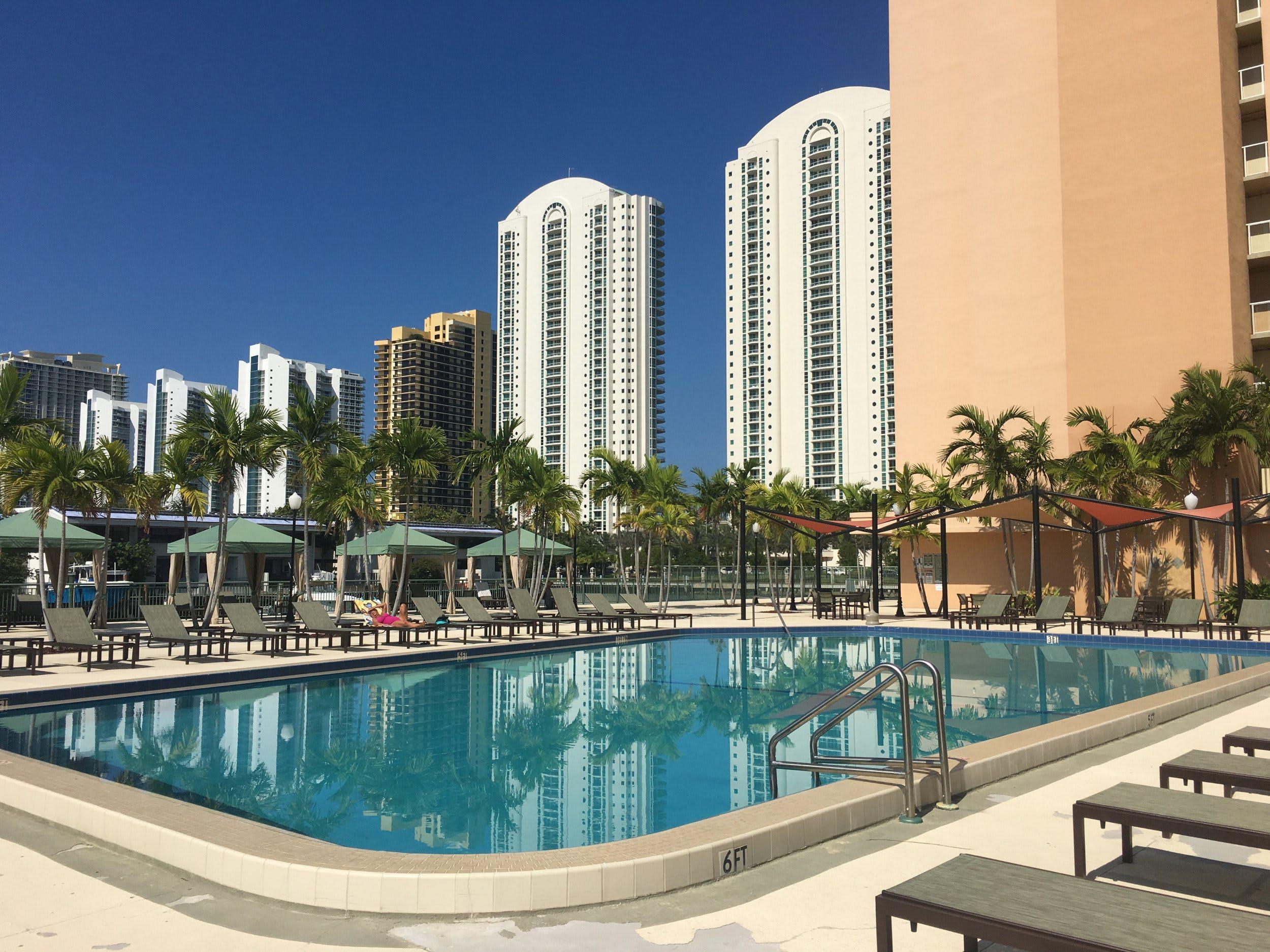 Swimming Pool at Marina del Mar in Sunny Isles Beach, Florida