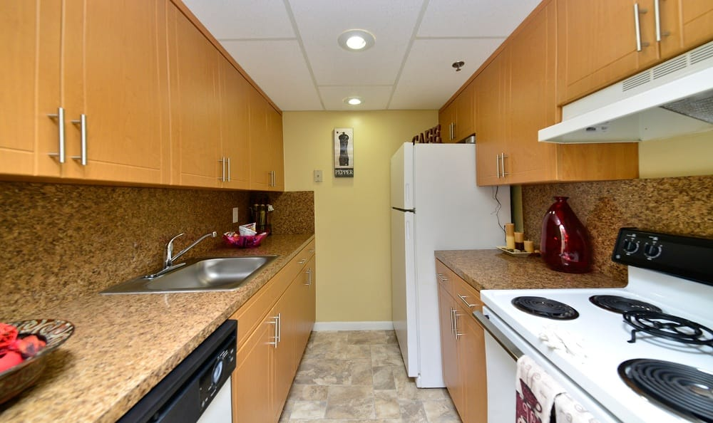 Kitchen at Forest Place Apartments in North Miami.