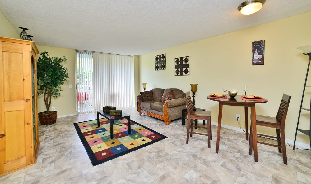 Open floor-plans at Forest Place Apartments in North Miami.
