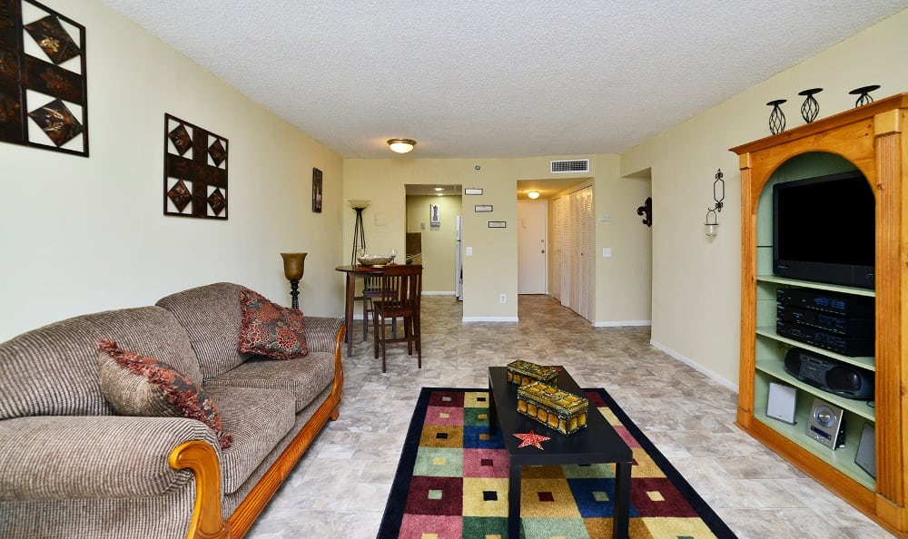 Living room at Forest Place Apartments in North Miami.