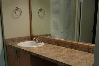 Bathroom at apartments for rent at Fairway View Apartments.