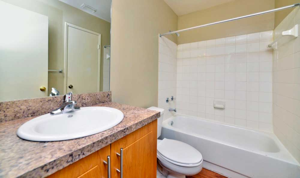 Example bathroom at apartments in Hialeah