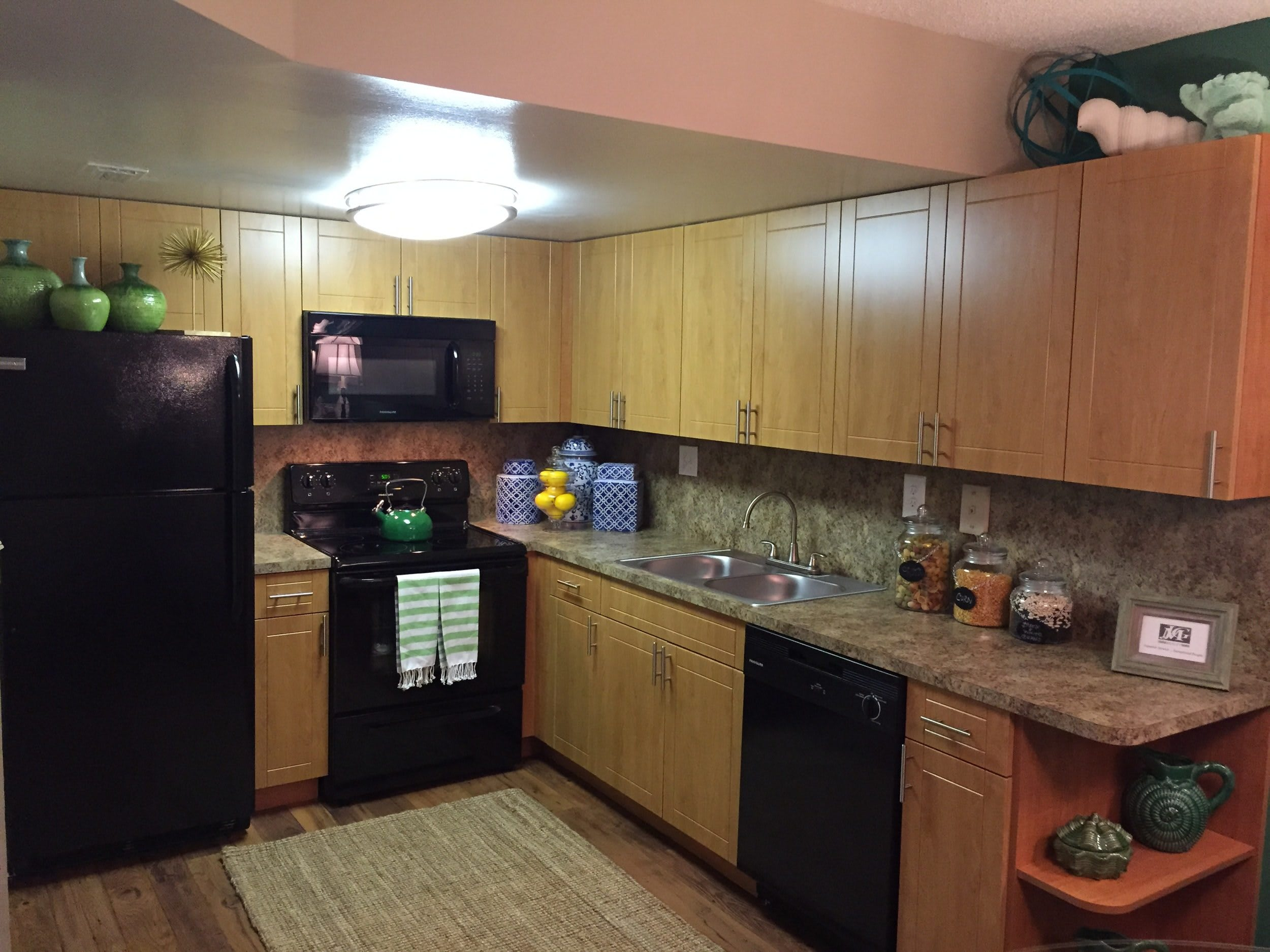 Kitchen at Fairway View Apartments in Hialeah, Florida